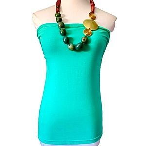 H&M Mint Spandex Ribbed Tube Top